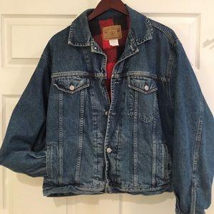 Vintage GAP Denim Jacket w/ Flannel Buffalo Check